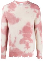Laneus Tie-Dye Cotton Jumper