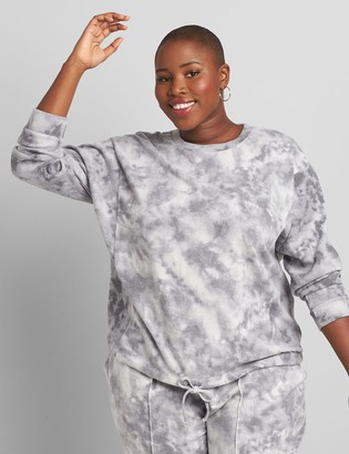 Lane Bryant LIVI Tie-Dye Long-Sleeve Tee