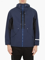 White Mountaineering Navy Windbreaker Jacket
