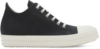 Rick Owens Faux Leather Low-Top Sneakers