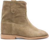 Etoile Isabel Marant Crisi Calfskin Velvet Leather Boots