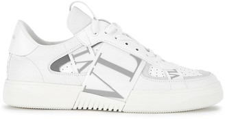 Valentino Garavani VL7N White Grained Leather Sneakers