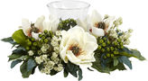 Asstd National Brand Nearly Natural Magnolia Candelabrum Silk Flower Arrangement