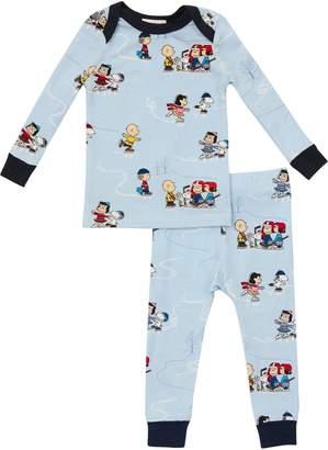 Bedhead Pajamas Peanuts® On Ice Fitted Two-Piece Pajamas