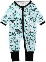 "Kids Tales ""Pineapple"" Footed Zipper Pajama Sleeper Cotton Romper(Size 4-24M)"