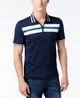 Michael Kors Men's Chest-Stripe Zip Polo