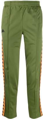 Kappa logo tape track trousers
