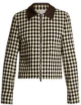 Wales Bonner Louis checked cotton-blend cropped jacket