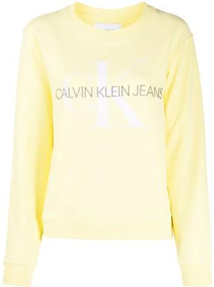 Calvin Klein Jeans Logo-Embroidered Crew Neck Sweatshirt