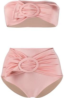 Adriana Degreas Buckled Ruched Detail Bikini