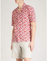 Eton Leaf and polka dot-print slim-fit cotton shirt
