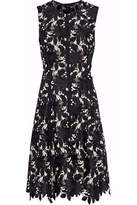 Lela Rose Embroidered Guipure Lace Dress