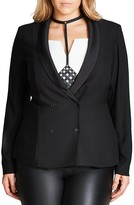 City Chic Relaxed Tuxedo Jacket