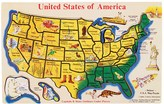 Melissa & Doug Wooden USA Puzzle Map
