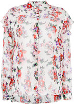 MSGM floral print sheer shirt - women - Silk - 42