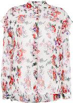 MSGM floral print sheer shirt