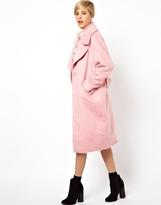 ASOS Vintage Cocoon Coat - pink