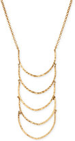 Lucky Brand Gold-Tone Patterned Ladder Statement Necklace