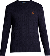 Polo Ralph Lauren Crew-neck cable-knit cotton sweater