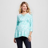 MaCherie Maternity Lace Yoke Top Mint/White
