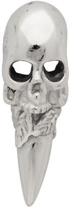 Emanuele Bicocchi Silver Single Skull Stud Earring