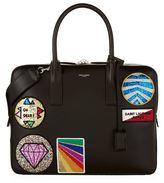 Saint Laurent Multi Patch Leather Briefcase