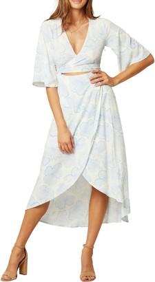 L-Space L Space Kellen Faux Wrap Cover-Up Dress