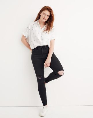 "Madewell Petite 9"" Mid-Rise Skinny Jeans in Black Sea"