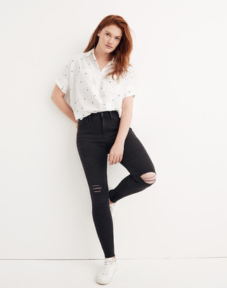"""Madewell Tall 9"""" Mid-Rise Skinny Jeans in Black Sea"""