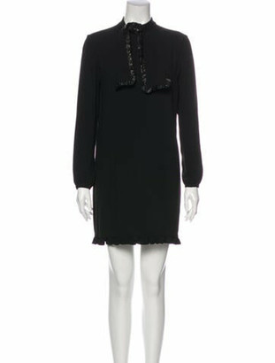 Saint Laurent 2013 Mini Dress Black