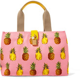 Dolce & Gabbana Leather-trimmed Printed Canvas Tote - Pink