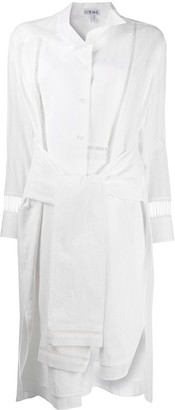 Loewe Asymmetric Midi Shirt Dress
