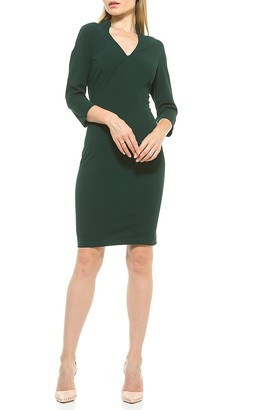 Alexia Admor Aria Fitted V-Neck Sheath Dress
