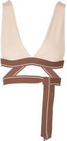 Olympia Activewear - Knot Stretch-jersey Sports Bra - Pastel pink
