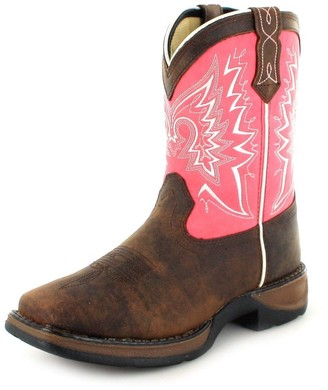 Durango Unisex DWBT094 Western Boot Brown/Pink 3.5 M US Big Kid