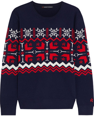 Perfect Moment Nordic Intarsia Merino Wool Sweater