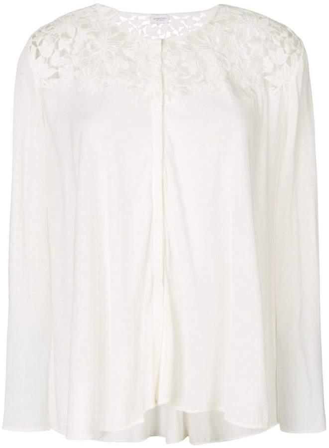 Giambattista Valli lace insert blouse