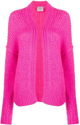 Alysi Open Ribbed Knit Cardigan