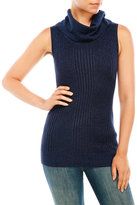 Joseph A Sleeveless Lurex Cowl Neck Sweater