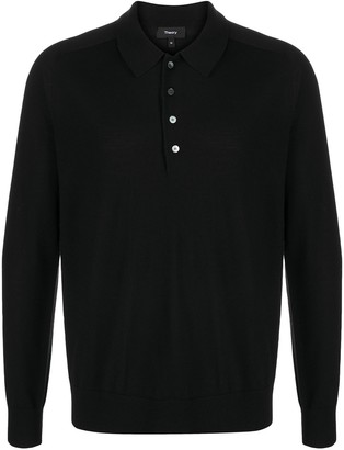 Theory Pique Cotton Polo Shirt