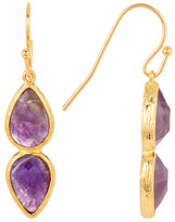 Melinda Maria June Amethyst Double Drop Earrings