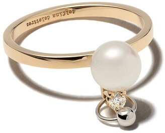 Delfina Delettrez 18kt white and yellow gold Two in One diamond ring