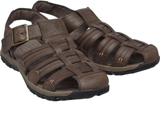 Karrimor Mens Fisherman Closed Toe Leather Sandals Chocolate