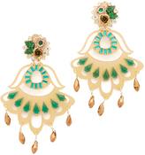 Mercedes Salazar Fiesta Flower Earrings