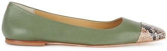 AEYDĒ Gigi Green Leather Flats