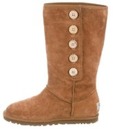 UGG Suede Button Boots