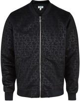 Kenzo Black Monogrammed Jersey Bomber Jacket