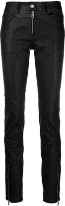 Zadig & Voltaire Low-Rise Skinny Leather Trousers