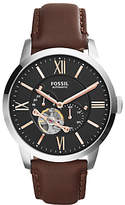 Fossil Townsman Skeleton Automatic Leather Strap Watch