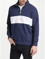 Penfield Hosmer Half Zip Embroidered Sweatshirt, Peacoat